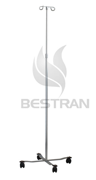 Stainless steel IV pole