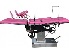 Hydraulic obstetric table
