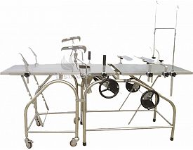 Manual gynecology bed