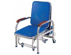 Stainless steel Attendant Chair