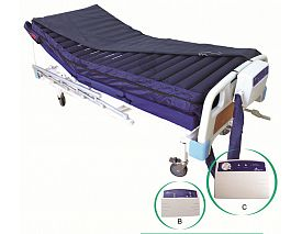 Alternating pressure air mattress