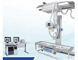 Digital ceiling suspended radiography system