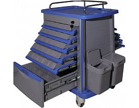 Dual-side ABS Medicine Trolley