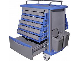 Dual-side ABS Medicnie Trolley