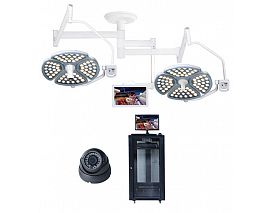 LED operation lamp with camera and monitor