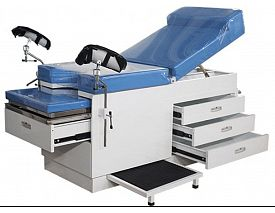 Gynecology obstetric examination couch