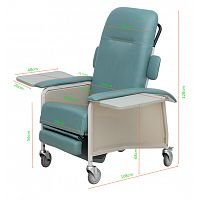 Luxurios Foldable Accompany Chair Bed Elderly Recliner Chair
